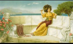 John William Godward -  在 `prime`  的 夏天  时间