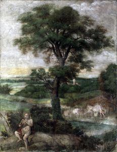 Domenichino (Domenico Zampieri) - 水星 偷窃行为  的  牛群  的  阿德墨托斯