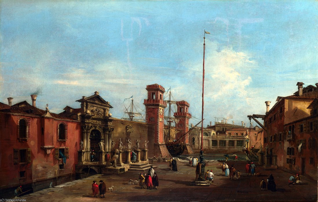 阿森纳 通过 Francesco Lazzaro Guardi (1712-1793, Italy) | 畫再現 | WahooArt.com