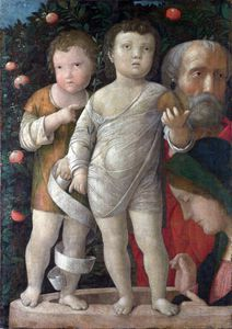 Andrea Mantegna - 神圣家族与圣约翰