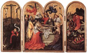 Robert Campin (Master Of Flemalle) - triptych-Seilern 三联