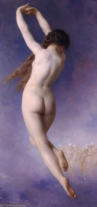 Letoile珀杜 通过 William Adolphe Bouguereau (1825-1905, France)