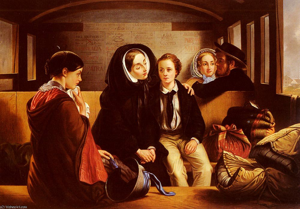 SECOND_CLASS THE_PARTING 通过 Abraham Solomon (1823-1862, United Kingdom)