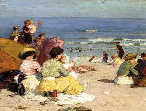 Edward Henry Potthast - 海滩场景