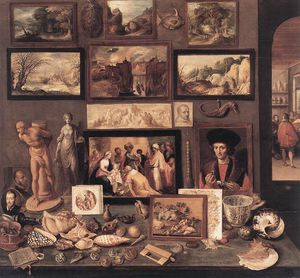Frans Francken The Younger - 艺术的 房间