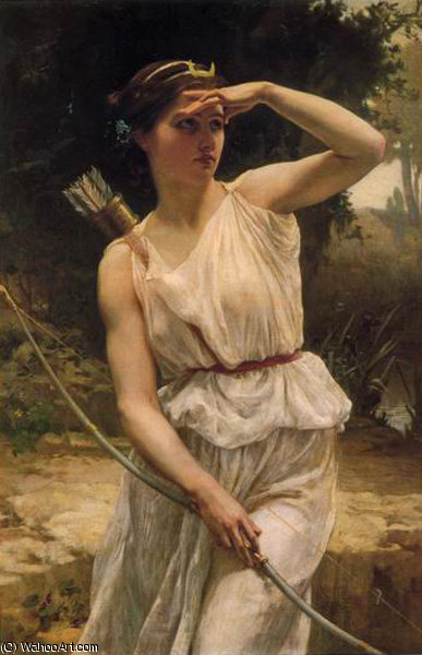 戴安娜 打猎  通过 Guillaume Seignac (1870-1924, France) | 手工畫 | WahooArt.com