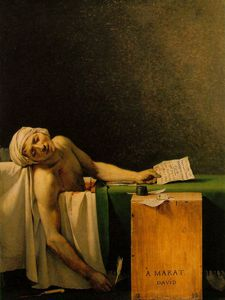 Jacques Louis David - 萨芬,Musees Royaux美术氩死亡