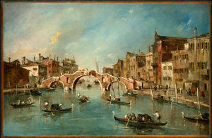 Francesco Lazzaro Guardi - 查看 位于cannaregio 运河 , 威尼斯 , c .