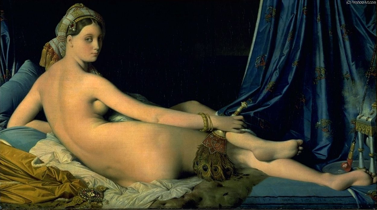 后宫 卢浮宫 , 1814 通过 Jean Auguste Dominique Ingres (1780-1867, France)