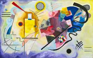 Wassily Kandinsky - Yellow-Red-Blue , 油画 , 博物馆 国家