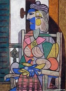 Pablo Picasso - 妇女 assise 德旺 香格里拉fenetre