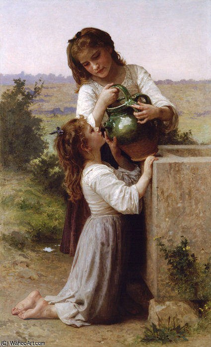 一拉封丹 通过 William Adolphe Bouguereau (1825-1905, France)
