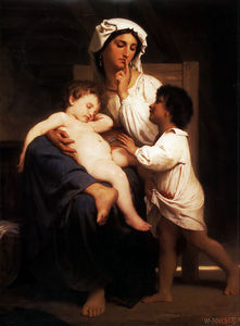William Adolphe Bouguereau - 睡着 在  去年