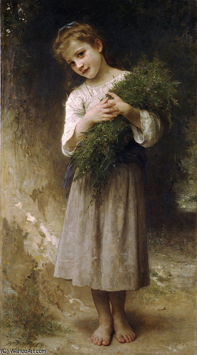 回 从  的  田地  通过 William Adolphe Bouguereau (1825-1905, France) | 幀畫冊專輯 | WahooArt.com