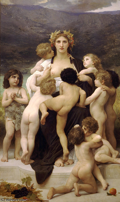 的 祖国 通过 William Adolphe Bouguereau (1825-1905, France)