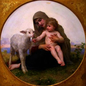 William Adolphe Bouguereau - 维珍和羊肉