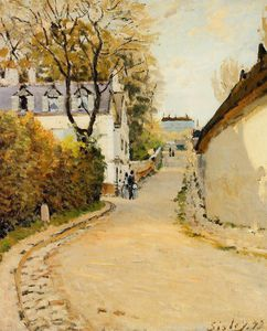 Alfred Sisley - 街德拉公主,Louveciennes的