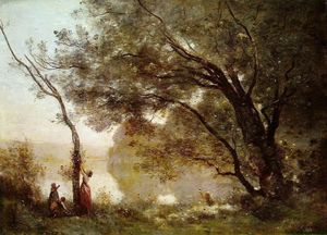 Jean Baptiste Camille Corot - 纪念品 Montefontaine