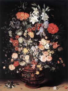 Jan Brueghel The Elder - 花儿  在 花瓶