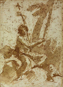 Giovanni Battista Tiepolo -  圣约翰  的  浸礼者
