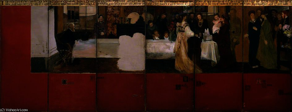 """艾普的家庭"" 通过 lawrence alma-tadema (1836-1912"