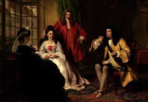 顺序 畫再現 : 主 Foppington 有关  他 冒险 通过 William Powell Frith (1819-1909, United Kingdom) | WahooArt.com