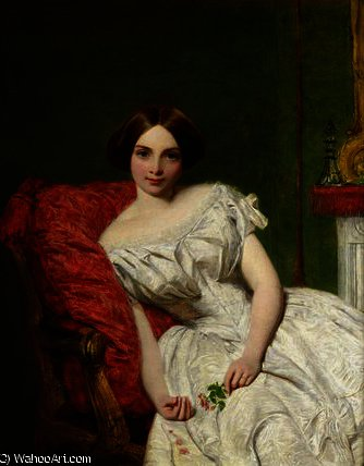 肖像 安妮 Gambart 通过 William Powell Frith (1819-1909, United Kingdom)