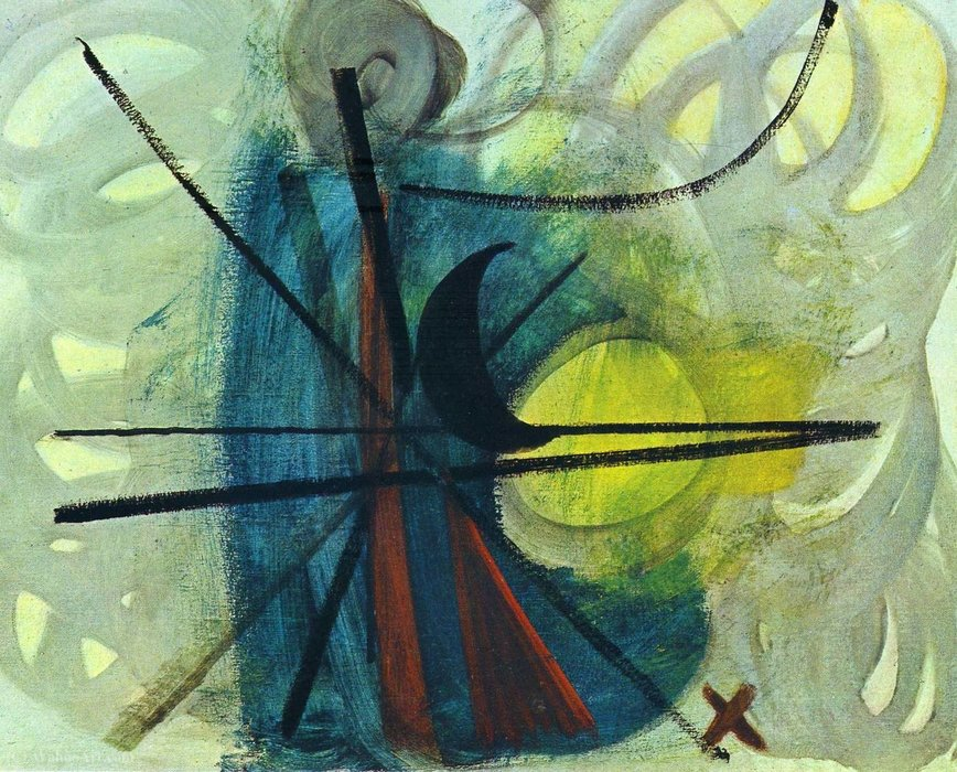 无题(681) 通过 Hans Heinrich Hartung (1904-1989, Germany) | 畫再現 | WahooArt.com
