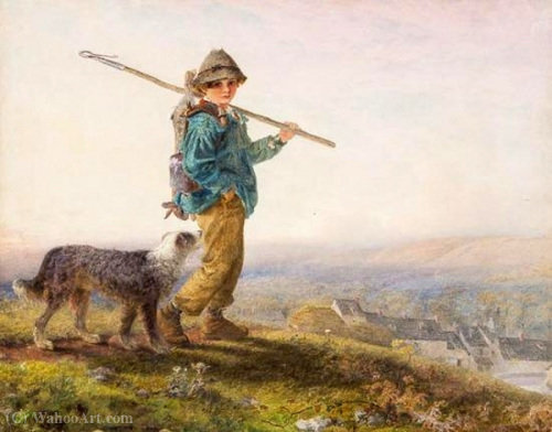 年轻的猎场看守人 通过 Alfred Downing Fripp (1822-1895, United Kingdom) | WahooArt.com