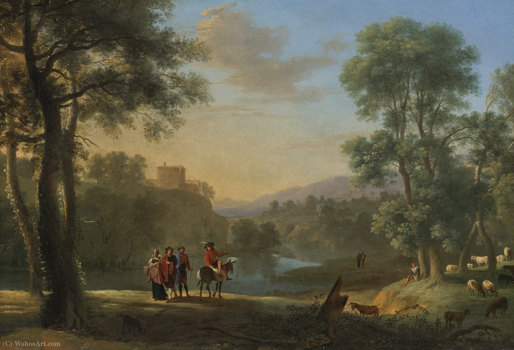 """古典园林"" 通过 herman van swanevelt (1603-1655"