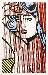 Roy Lichtenstein - 蓝发裸女