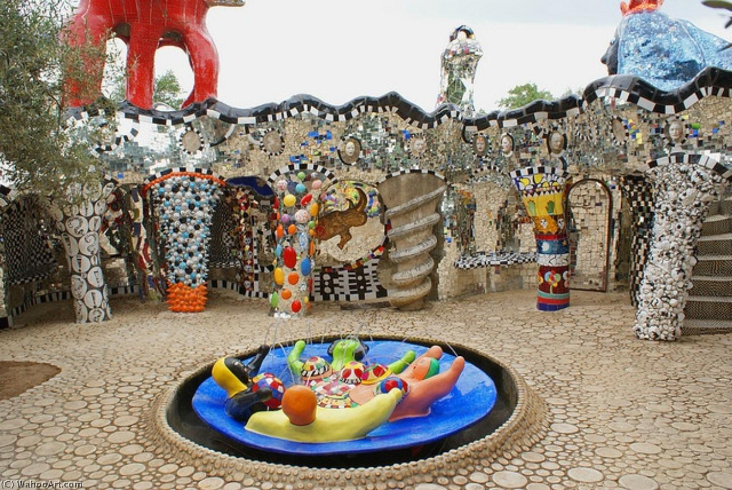 贾尔迪诺 代 Tarocchi 通过 Niki De Saint Phalle (1930-2002, France)