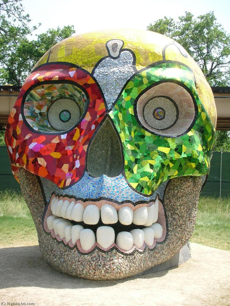 摩西律法 头骨  通过 Niki De Saint Phalle (1930-2002, France)