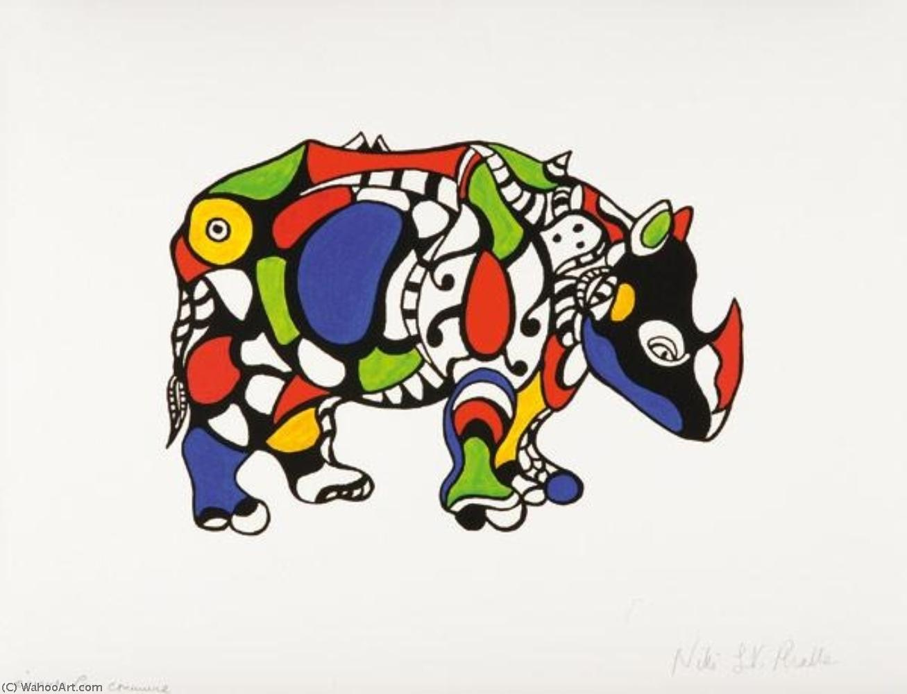 犀牛 通过 Niki De Saint Phalle (1930-2002, France)