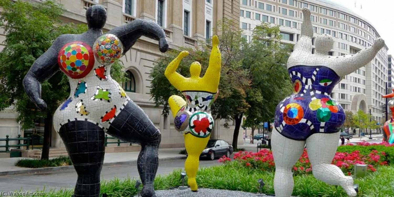美惠三女神 2   通过 Niki De Saint Phalle (1930-2002, France)