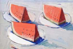 Wayne Thiebaud - 西瓜  大