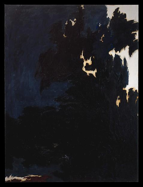 1950  Ë , 油画 通过 Clyfford Still (1904-1980, United States)