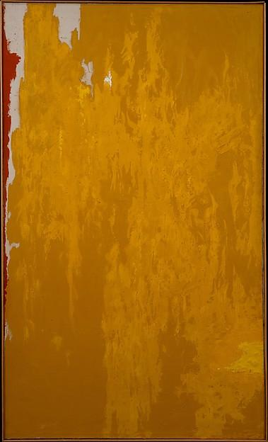 1950  w¯¯ , 油画 通过 Clyfford Still (1904-1980, United States)