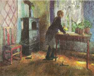 Harriet Backer - 梭子鱼 ved vinduet