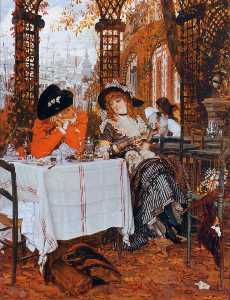 James Jaques Joseph Tissot - 一个 午餐