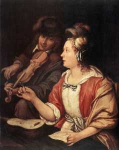 Frans Van Mieris The Elder - 音乐课