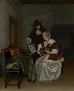 Gerard Ter Borch The Younger - 音乐课