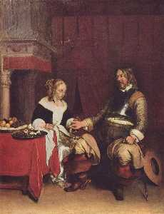 Gerard Ter Borch The Younger - 浩 士兵