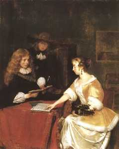 Gerard Ter Borch The Younger - 音乐 派对