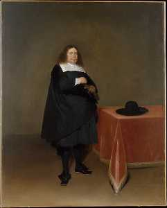 Gerard Ter Borch The Younger - 镇长 一月  货车  迪伦  1613   1687