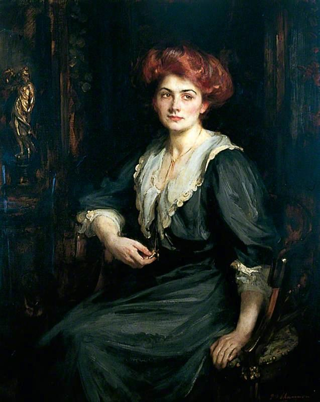 怀念 克洛伊  普雷斯顿 , 1909 通过 James Jebusa Shannon (1862-1923, United Kingdom) | 手工油畫 James Jebusa Shannon | WahooArt.com