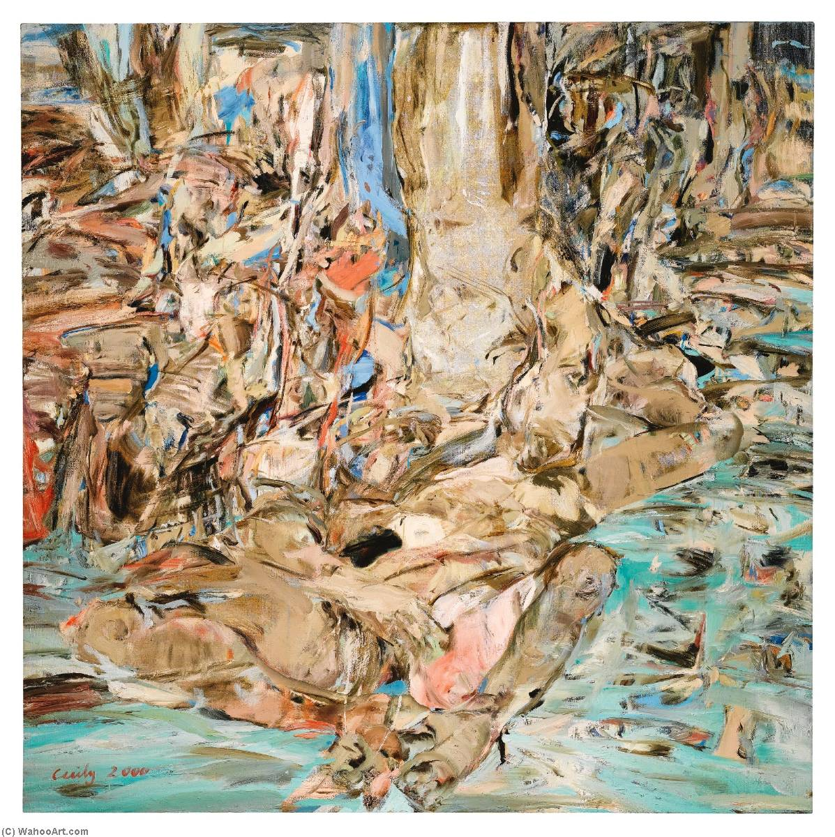 Summerstorm, 油画 通过 Cecily Brown
