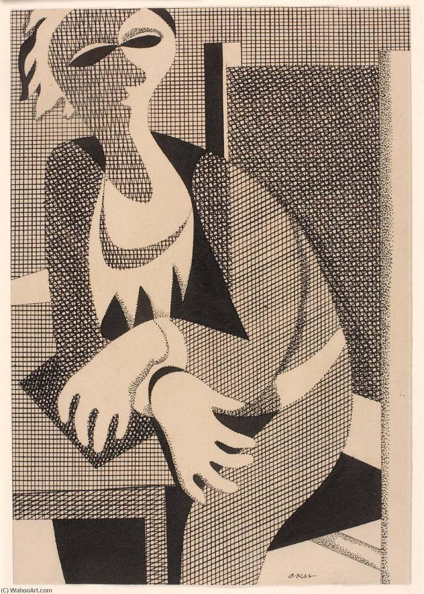 (Untitled ), 1932 通过 Carl Holty (1900-1973, Germany) |  | WahooArt.com