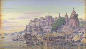 Marianne North - 'Benares . 印度 . 十月 23d 1878'