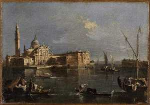 Francesco Lazzaro Guardi - L'EGLISE 圣乔治马焦雷 一个 VENISE的